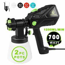 700W 1000ML Paint Sprayer Gun 4 Nozzles Electric Wall Fence Garden Handheld Home