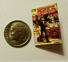 Miniature dollhouse book 1/12 Walking Dead Comic Book Tv show Darryl Negan
