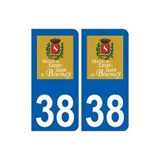 38 Saint-Jean-de-Bournay logo ville autocollant plaque stickers arrondis