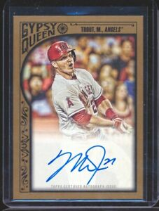 Mike Trout 2011 Topps Gypsy Queen SP Auto Autograph #D 14/25 SP