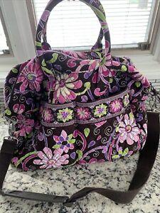 """Vera Bradley Pink/Purple/brown flowers Large  Bag  18"""" x 11"""""""