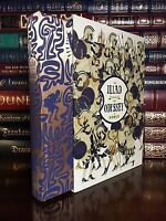 Iliad & Odyssey by Homer New Sealed Silk Bound Collectible Hardcover w Slipcase