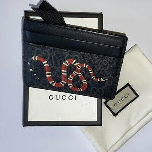 Gucci Kingsnake Print GG Supreme Card Holder Great Condition
