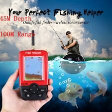 Portable 100M Smart Fish Finder LCD Wireless Remote Sonar Sensor Fishing Helper