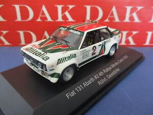 Die cast 1/43 Modellino Auto Fiat 131 Abarth Rally Monte Carlo 1978 W. Rohrl CMR