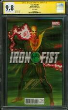 Iron Fist 1 CGC SS 9.8 Alex Ross Variant Signed 2017 Defenders TV