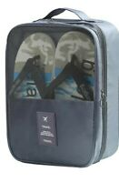 Portable Travel Shoe Bag - Hold 3 Pairs of Shoes, 3 in 1 Waterproof Shoe Storage