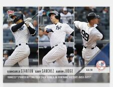 2018 TOPPS NOW #35 YANKEES TRIO HOMER GIANCARLO STANTON/GARY SANCHEZ/AARON JUDGE