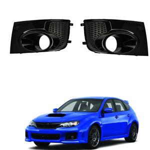 Pair For Subaru Impreza WRX STi Fog Light Lamp Bezel Cover Frame 2011-2014 Black