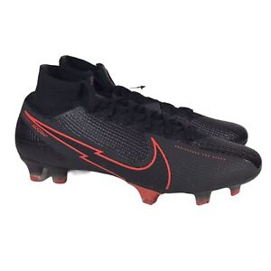 Nike Mercurial Superfly 7 Elite FG ACC Soccer Cleats Black AQ4174-060 Men Sz 7.5