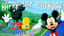 Mickey Mouse Club House Birthday Banner Personalized Custom Design Indoor Out