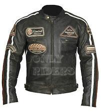 Giacca, Giubbotto en Pelle Moto Uomo, Giacca pelle, Biker Jacket, Custom, S-5XL