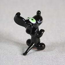 Dog Collectible Animal Figurine Blown glass Lampwork Handmade