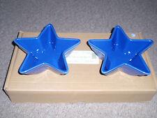 "Longaberger Wt, 7"" Star Dish, (Set of 2) Cornflower, New!"