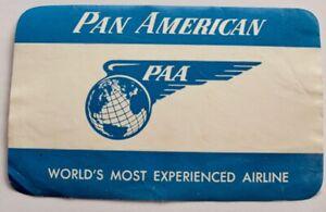 Vintage Pan American Airways airline luggage label