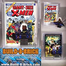 STORM X-men custom MINIFIGURE w/ Display Case & lego stand 161
