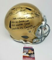 Rocket Ismail Signed Notre Dame Fighting Irish Riddell FS Helmet 4 Inscriptions