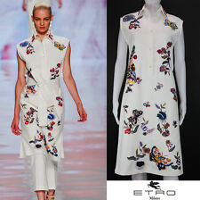 NEW ETRO RUNWAY EXQUISITELY HAND BEADED & EMBROIDERED WHITE DRESS w/BELT 40 - 6