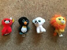 4 Mcdonalds 2017 Small Soft Toys Ty Lion, bull, pengiun and cute dog