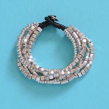 Multi Strand Bali Silver Bracelet Silver Alloy Beaded Bangle