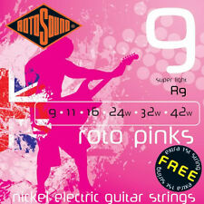Rotosound R9 Roto Pink Electric Guitar strings Super lite gauges 9-42