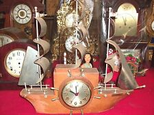 Sessions Self starting Yakee Clipper Ship Clock.. Electric.