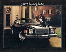 Chrysler Cordoba 1978 USA Market Sales Brochure 318-V8 400-V8