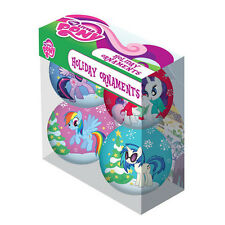 MY LITTLE PONY 4 Ornament Set TWILIGHT SPARKLE Rainbow Dash RARITY DJ Pon 3