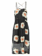 Knee Length Casual Floral Linen Dresses for Women