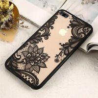 Wedding Lace Mandala Henna Soft TPU Case Cover for iPhone 8 X 6s 7 PLUS Newly