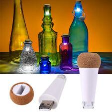 USB Rechargeable LED Cork Wine Champagne Bottle Stopper Light Lamp Decor Wedding