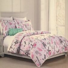 Cynthia Rowley Paris Eiffel Tower Poodle Full/Queen 5 Piece Comforter Set (New)
