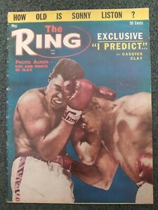Cassius Clay - Muhammad Ali vs Liston - 1964 THE RING Boxing Magazine - Complete