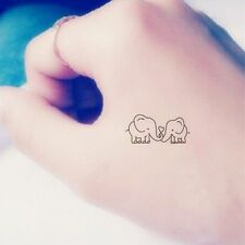 Art Temporary Waterproof Love Pattern Couple Elephant Cover Stickers Tattoos