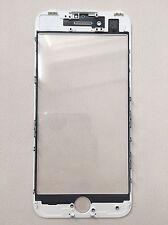 iPhone 7 Glas / Scheibe inkl. OCA + Rahmen / cold press frame weiß white