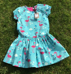 *Lilly and Sid Dress -  Flamingo Print Cotton: Lined - Back Zip: Age 6-7 BNWT*