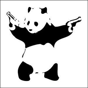 Banksy Graffiti Panda With Guns Art amazing wall stickers