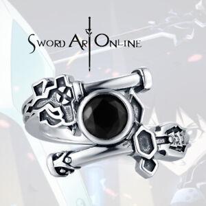 SAO Sword Art Online Ring Kirito Elucidator Dark Sterling 925 Silver Ring