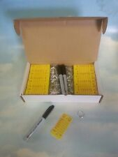 Wholesale CAR DEALER 500 NEW POLY RIGIDENE KEY TAGS WITH RINGS & MARKERS YELLOW