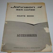 Parts Book Ersatzteilkatalog Johnson Sea Horse Accessories Stand 1968!