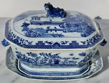 18th Century Chinese Blue And White Chamfered Tureen, Cover And Stand Sotheby's