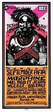 Morphine Concert POSTER 311 Big Block Big Chief Forehead Stew Arminski Signed