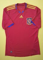 4.9/5 Spain soccer jersey SMALL 2010 2011 home shirt football Adidas