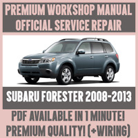 WORKSHOP MANUAL SERVICE & REPAIR GUIDE for SUBARU FORESTER 2008-2013 +WIRING