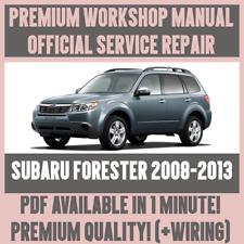 >WORKSHOP MANUAL SERVICE & REPAIR GUIDE for SUBARU FORESTER 2008-2013 +WIRING