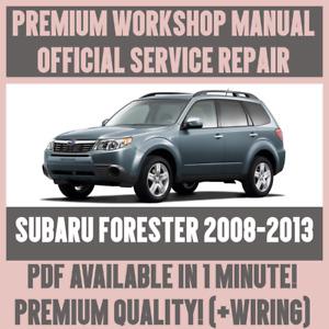 WORKSHOP MANUAL SERVICE & REPAIR GUIDE for SUBARU FORESTER 2008-2013 +WIRING