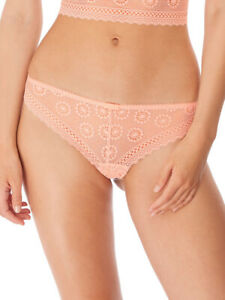 Freya Love Note Brief Brazilian Mid Rise 5217 Knickers Sheer Lace Lingerie
