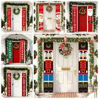 Merry Christmas Wall Hanging Banner Door Curtain Xmas Party Decoration Ornament