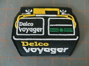 Vintage Mint Fishing Patch - Delco Voyager Batteries - 4 x 3 inch