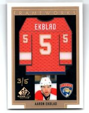 2016-17 SP Game Used Aaron Ekblad Frameworks Materials Gold 3/5